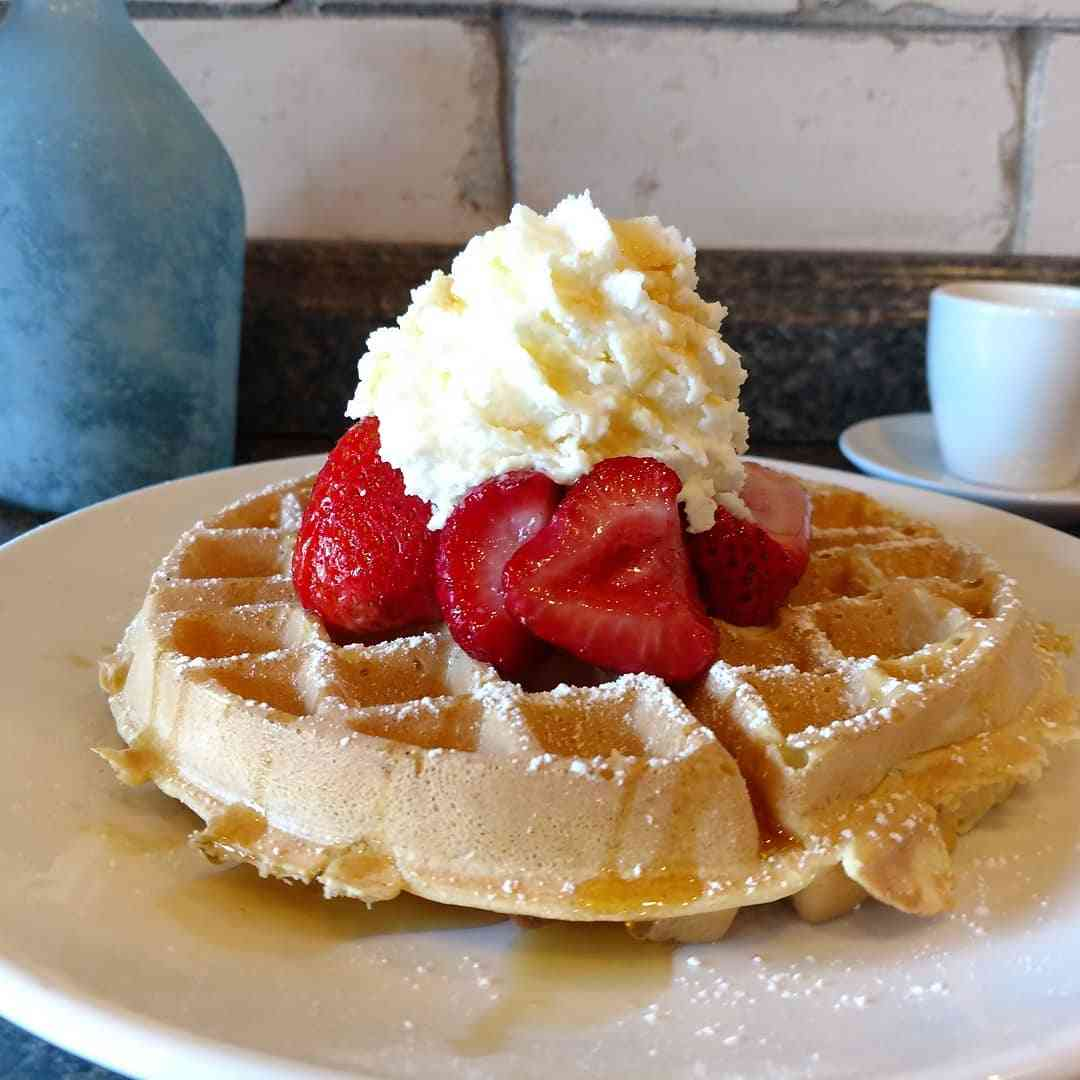 Strawberries & Whipped Cream Waffle
