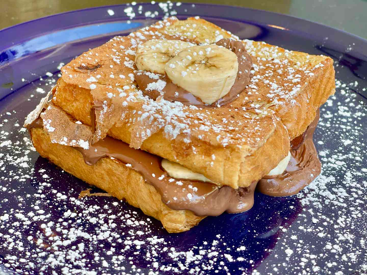 Banana & Nutella Stuffed French Toast