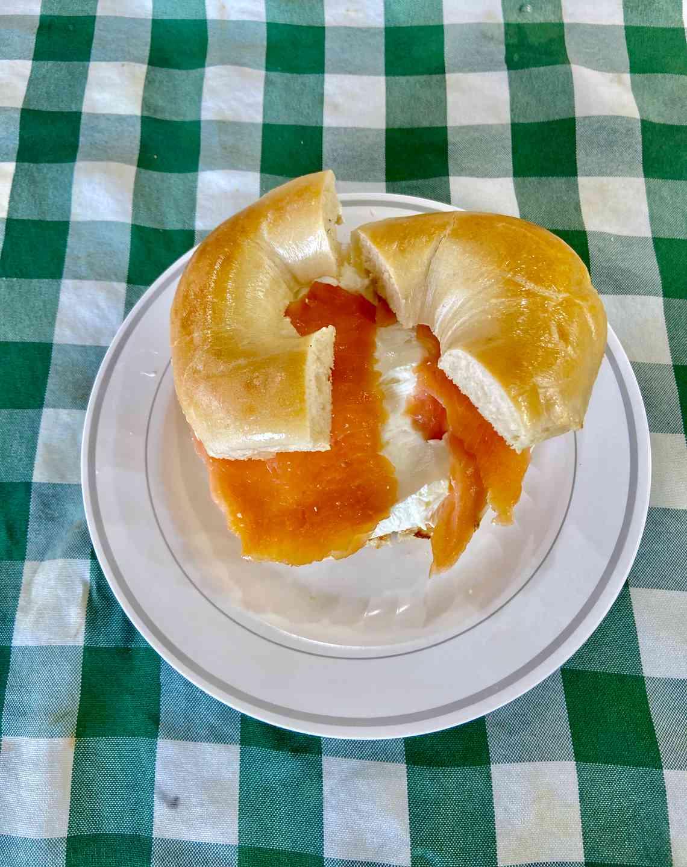 Nova & Cream Cheese Bagel