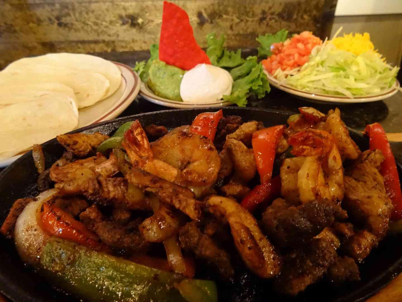 food on blue plate