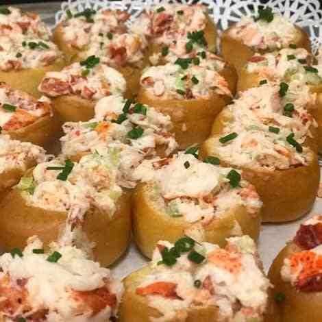 Mini Lobster Salad Brioche Bowls