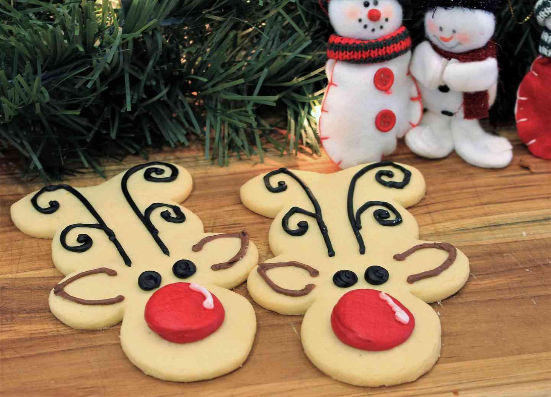 Reindeer Shaped Cookie