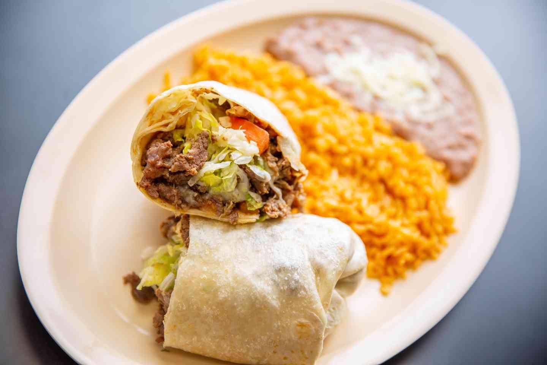 Steak & Pork Burrito Combo (Asada Y Puerco)