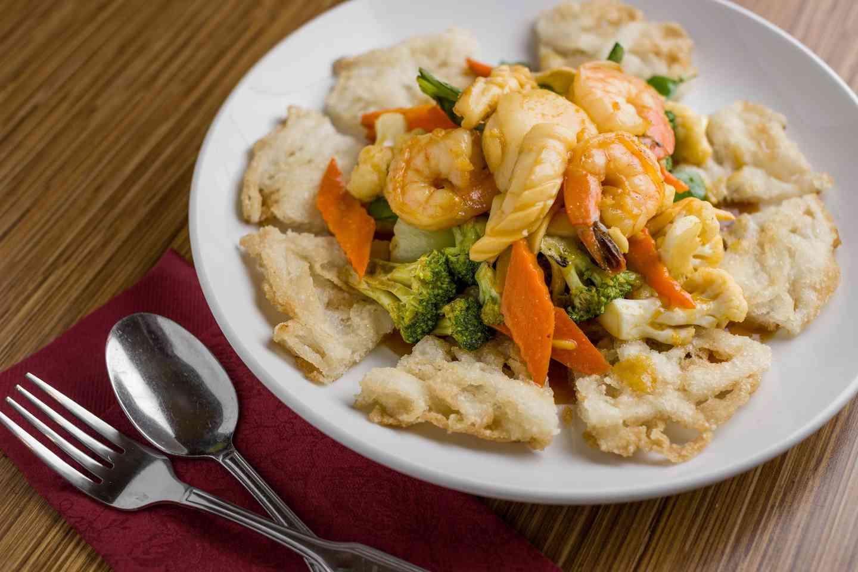 seafood crispy rice
