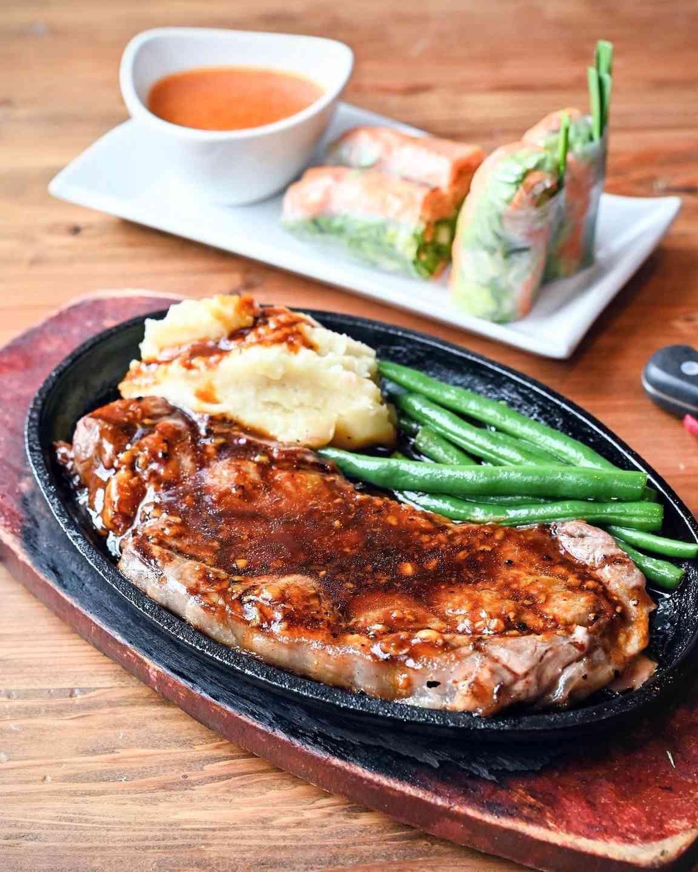 Sizzling New York Steak