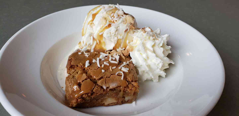 Brown Butter & Macadamia Blondie Sundae