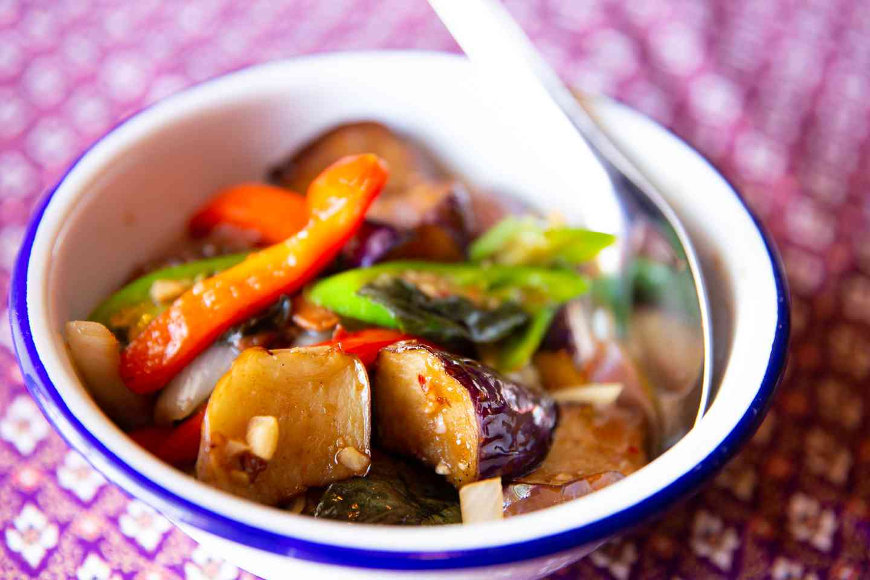 Spicy Eggplant Basil