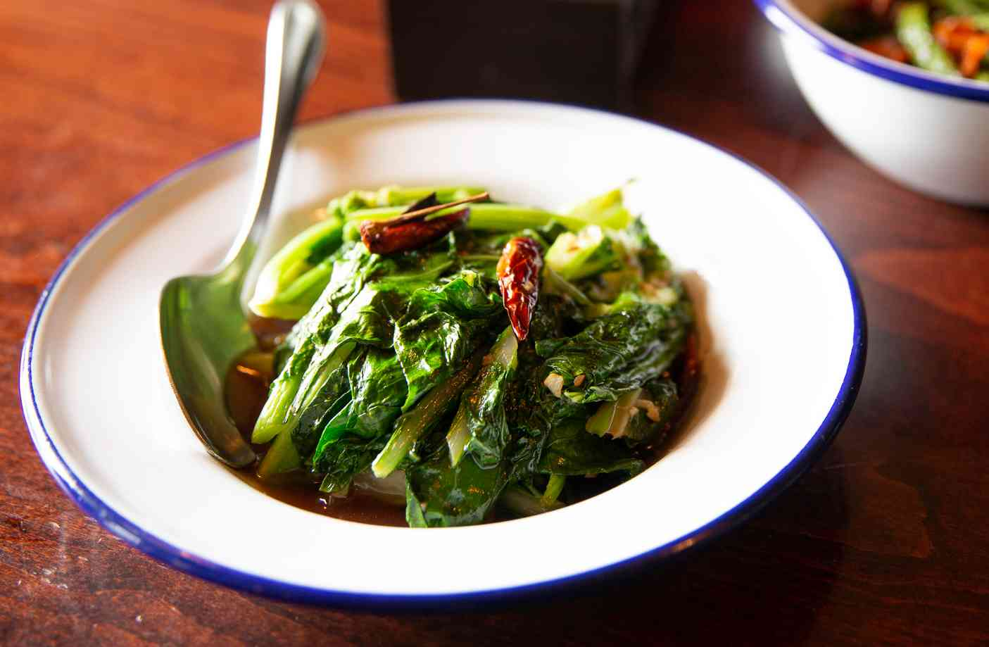 Chinese Broccoli and Roasted Red Chili