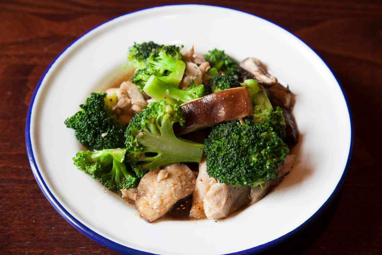 Broccoli and Shiitake Mushrooms