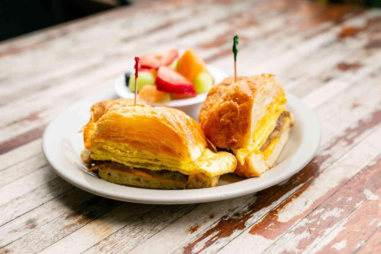 Scrambled Egg Croissant Sandwich