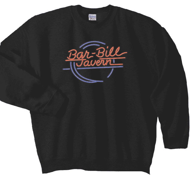 BAR-BILL NEON LOGO CREWNECK SWEATSHIRT
