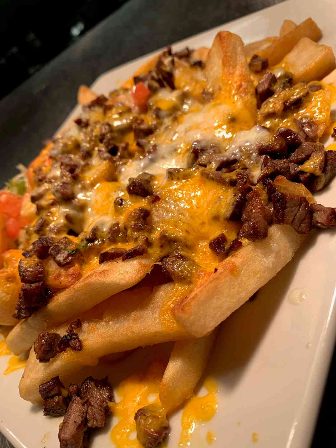 Asada Fries Topped with Cheese