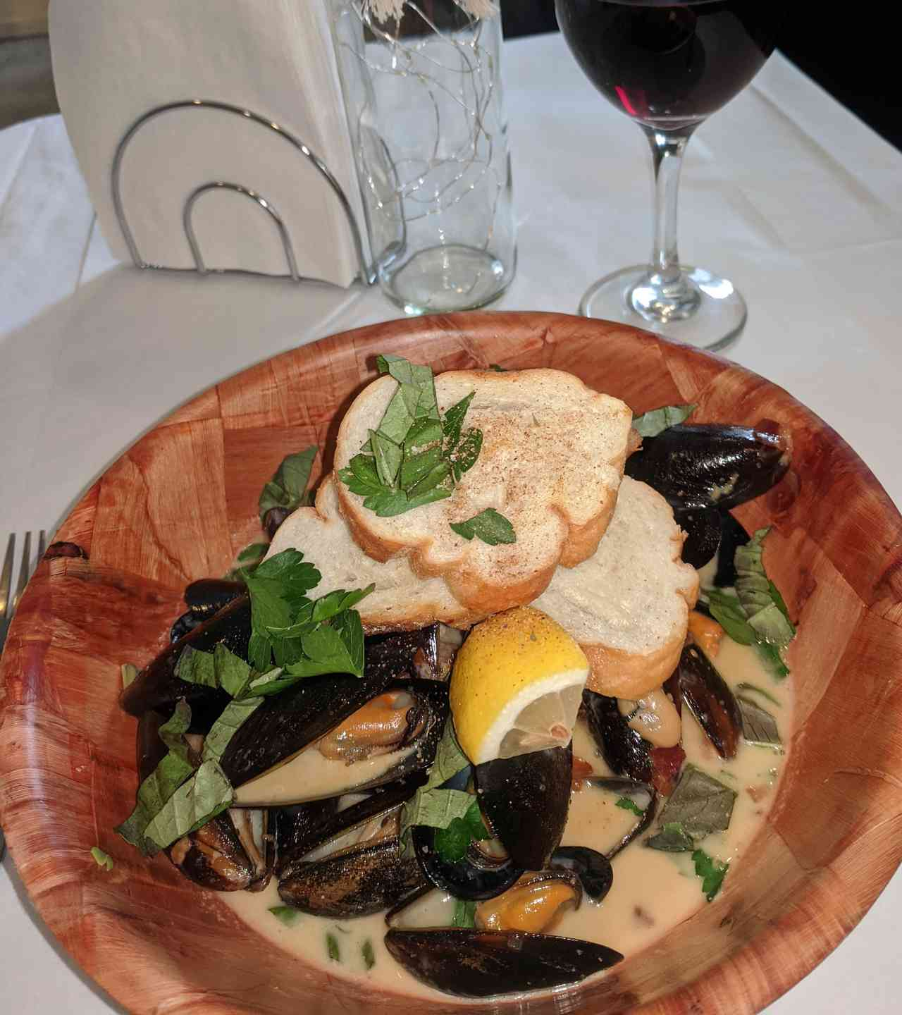 Mussels in White