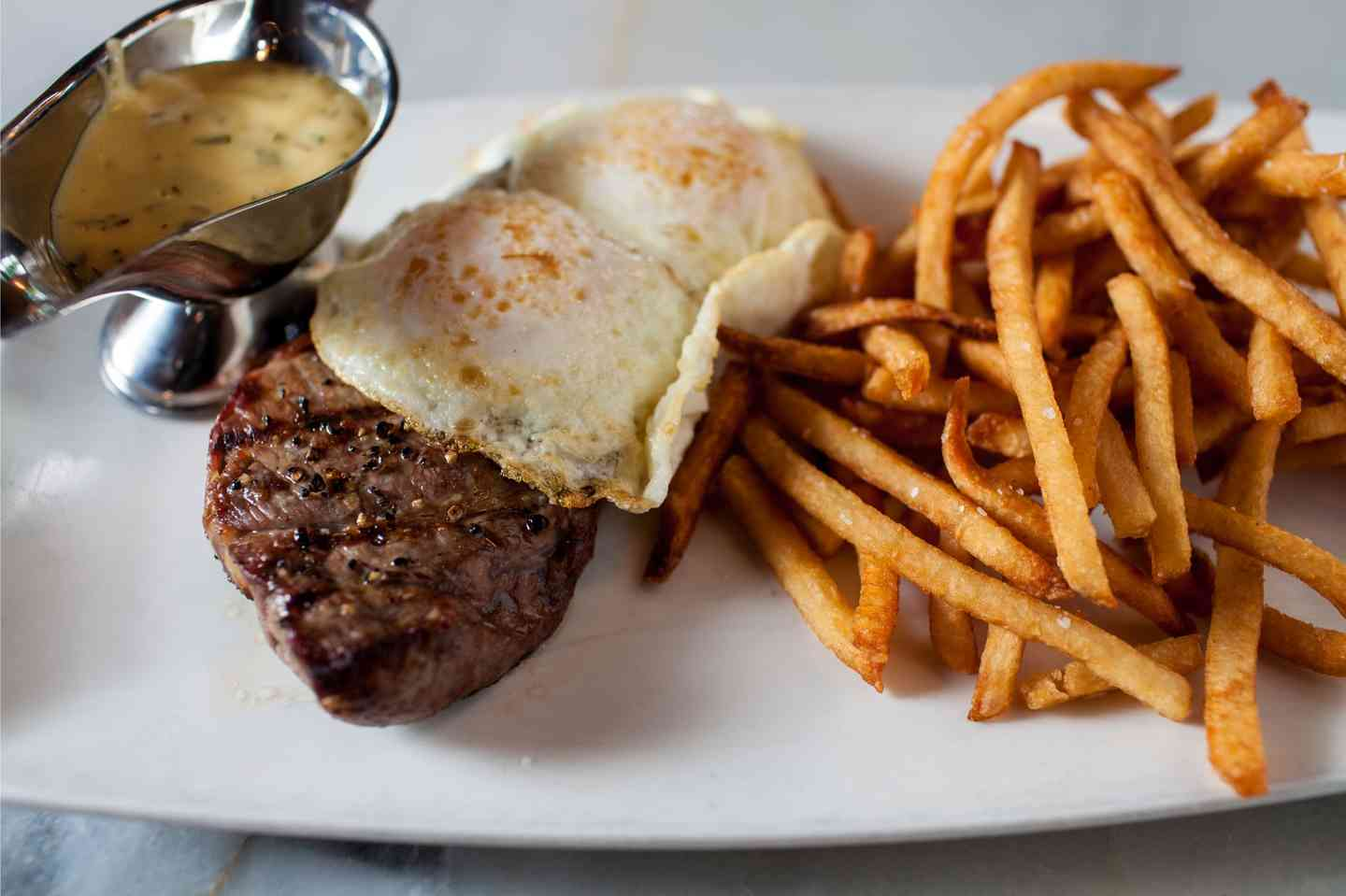 Steak and Eggs Frites*