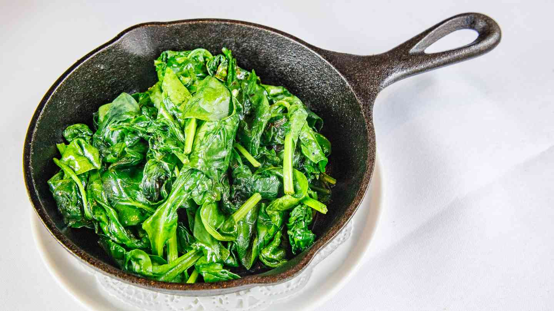 Sautéed Garlic Spinach