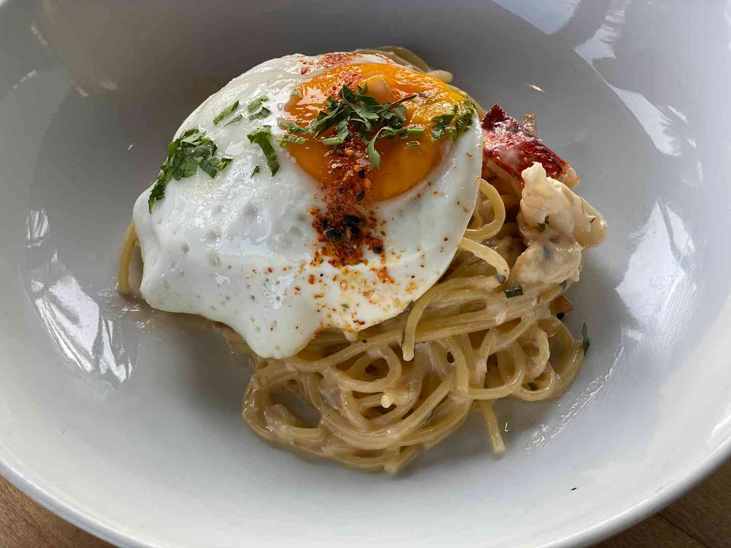 LOBSTER SPAGHETTI CARBONARA