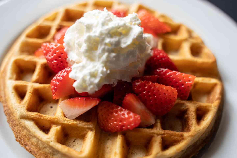 Strawberry Belgium Waffle