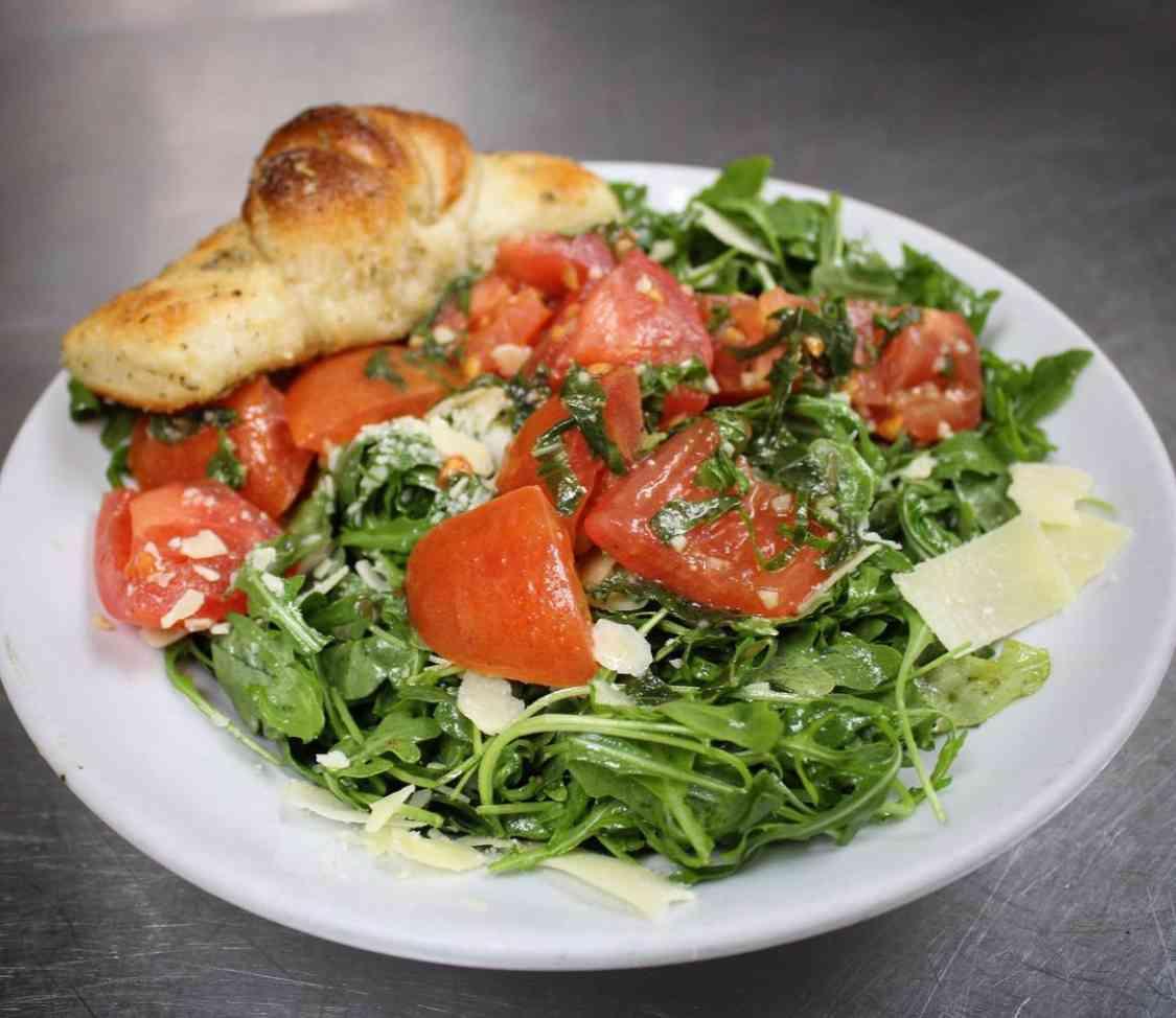 Baby Arugula Shaved Parmesan Salad