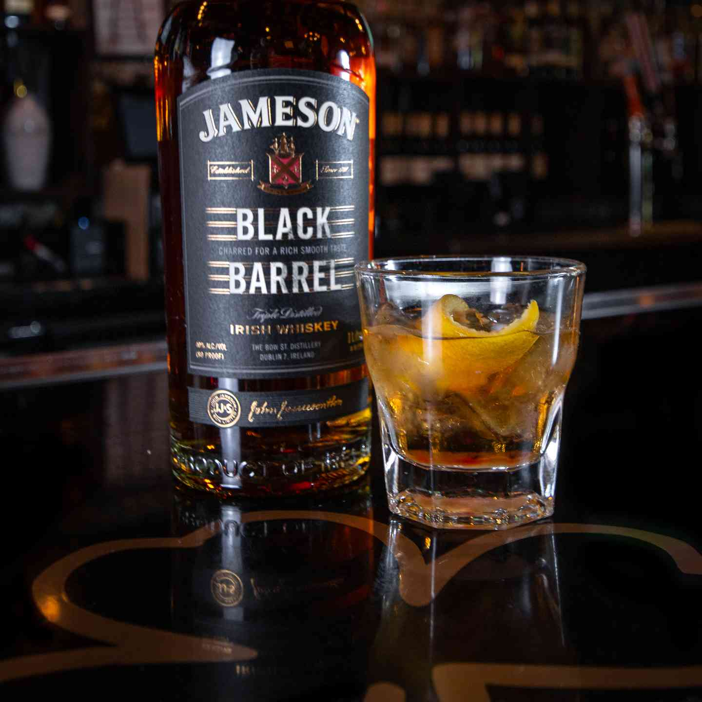 Jameson Black Barrel Old Fashioned