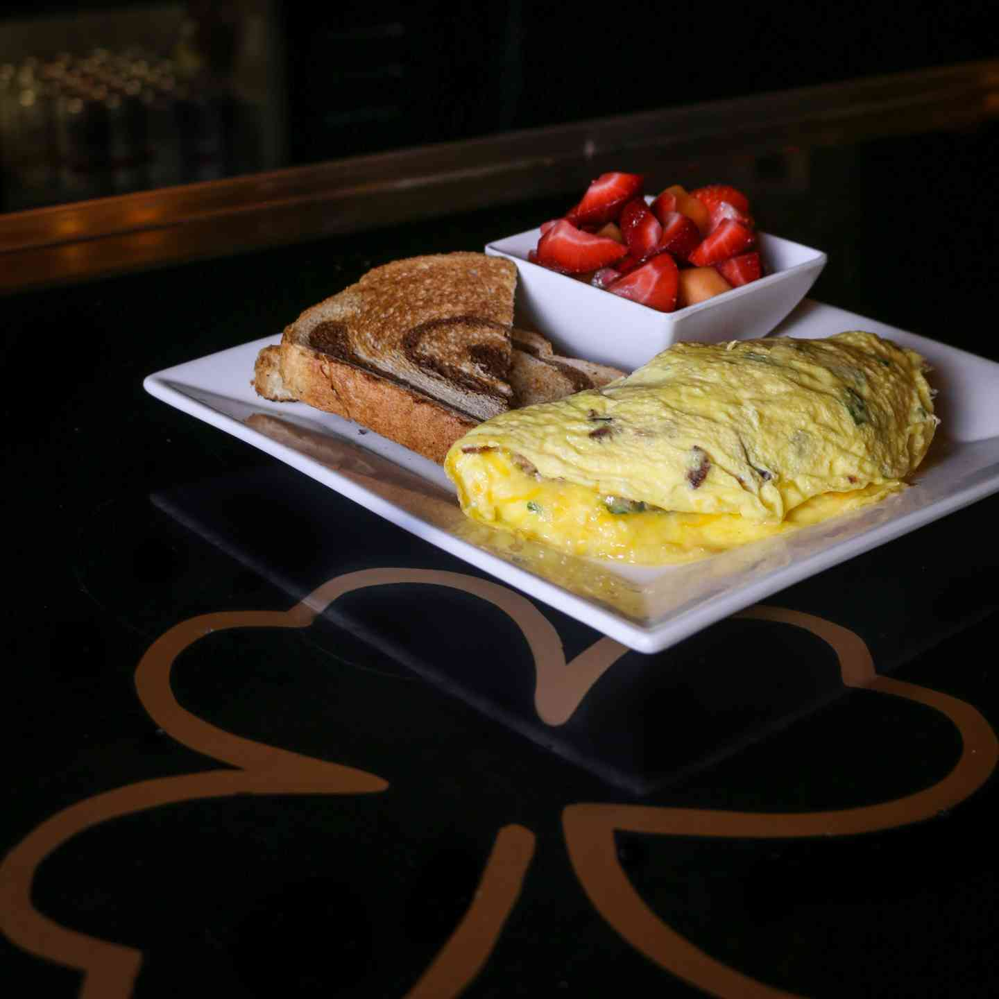 *Bacon & Irish Sausage Omelet