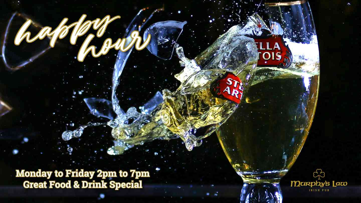 Happy Hour Monday to Friday 2pm to 7pm Great food & drink special
