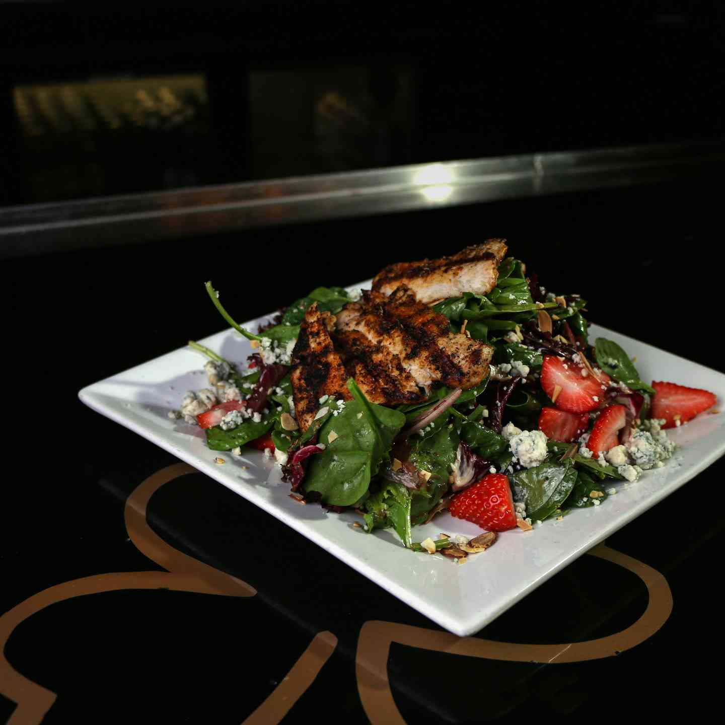 Seasonal Fruit Grilled Chicken Salad