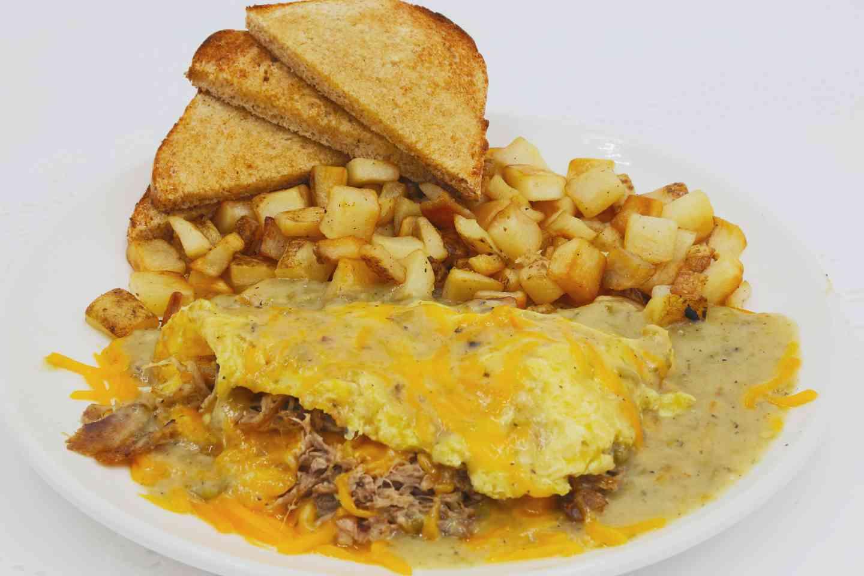 Pecos Pulled Pork Omelette