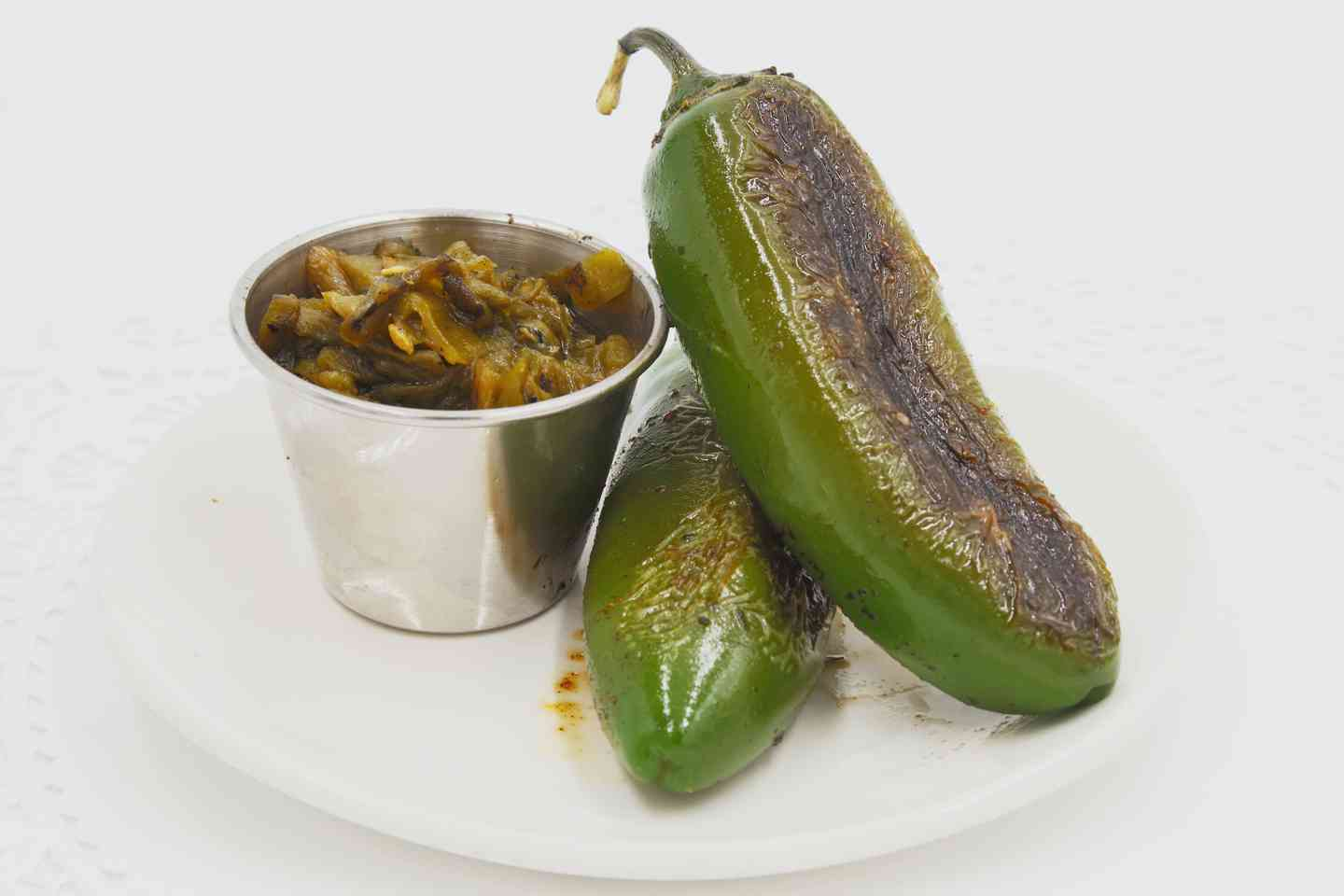 Chopped Green Chiles or Grilled Jalapenos