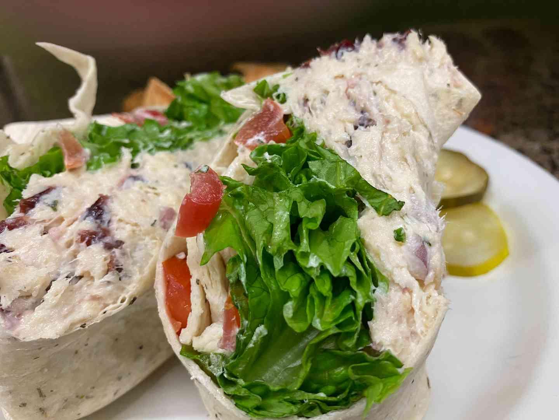 Vermont Style Chicken Salad Wrap
