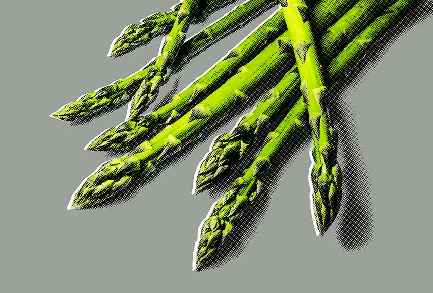 pop art asparagus