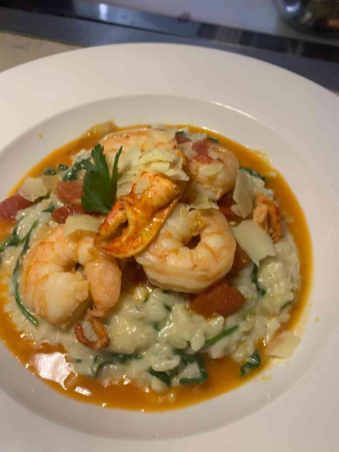 lobster and shrimp risotto