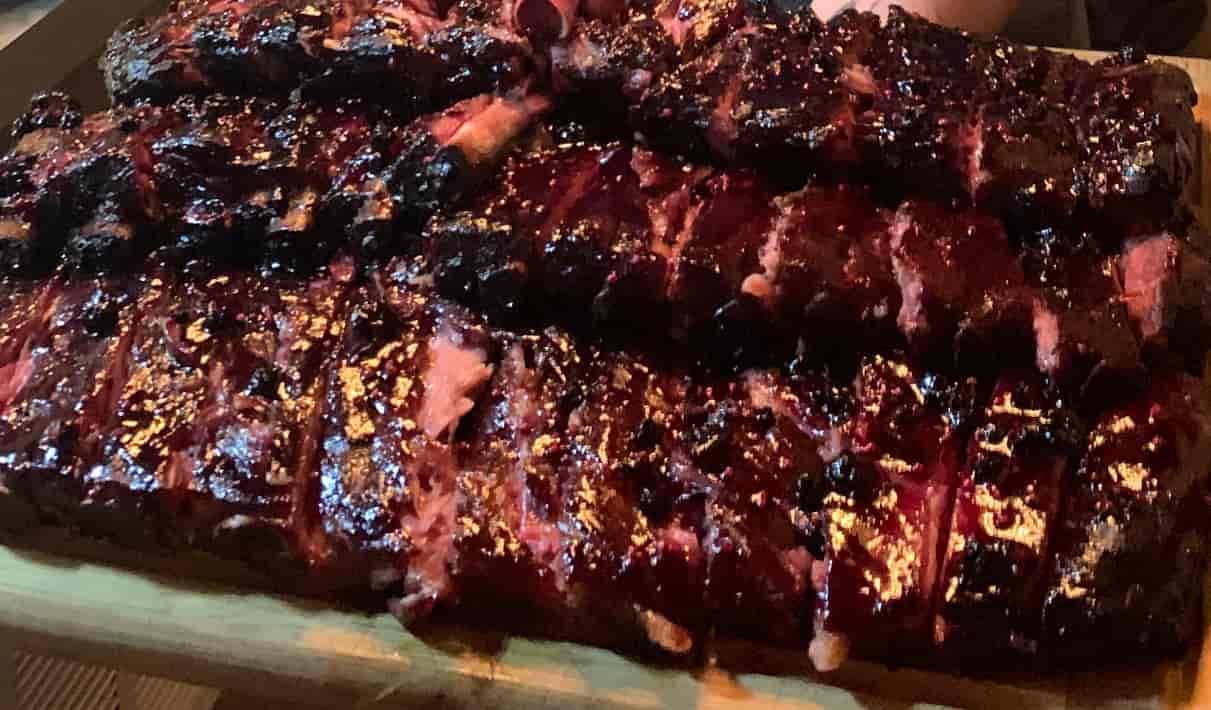 blueberry glazed bacon bones