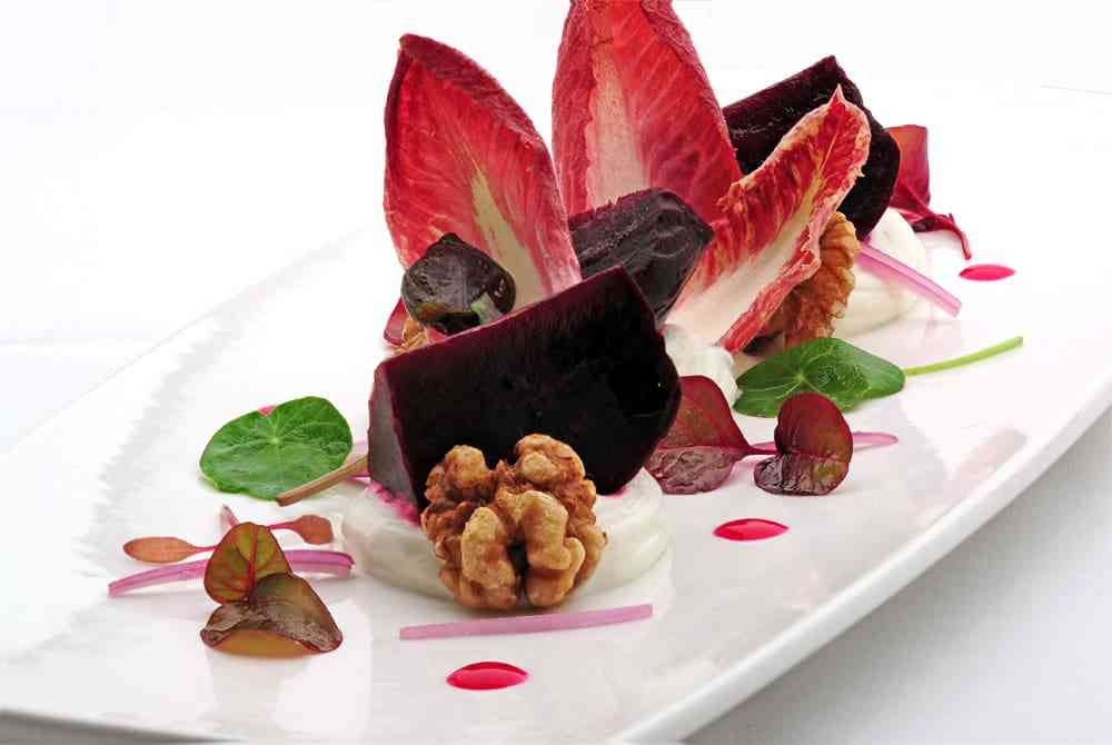 Roasted Beets and California Goat Cheese