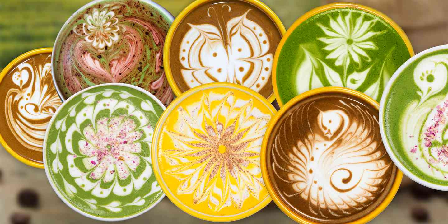 8 Coffee and tea Latte designs