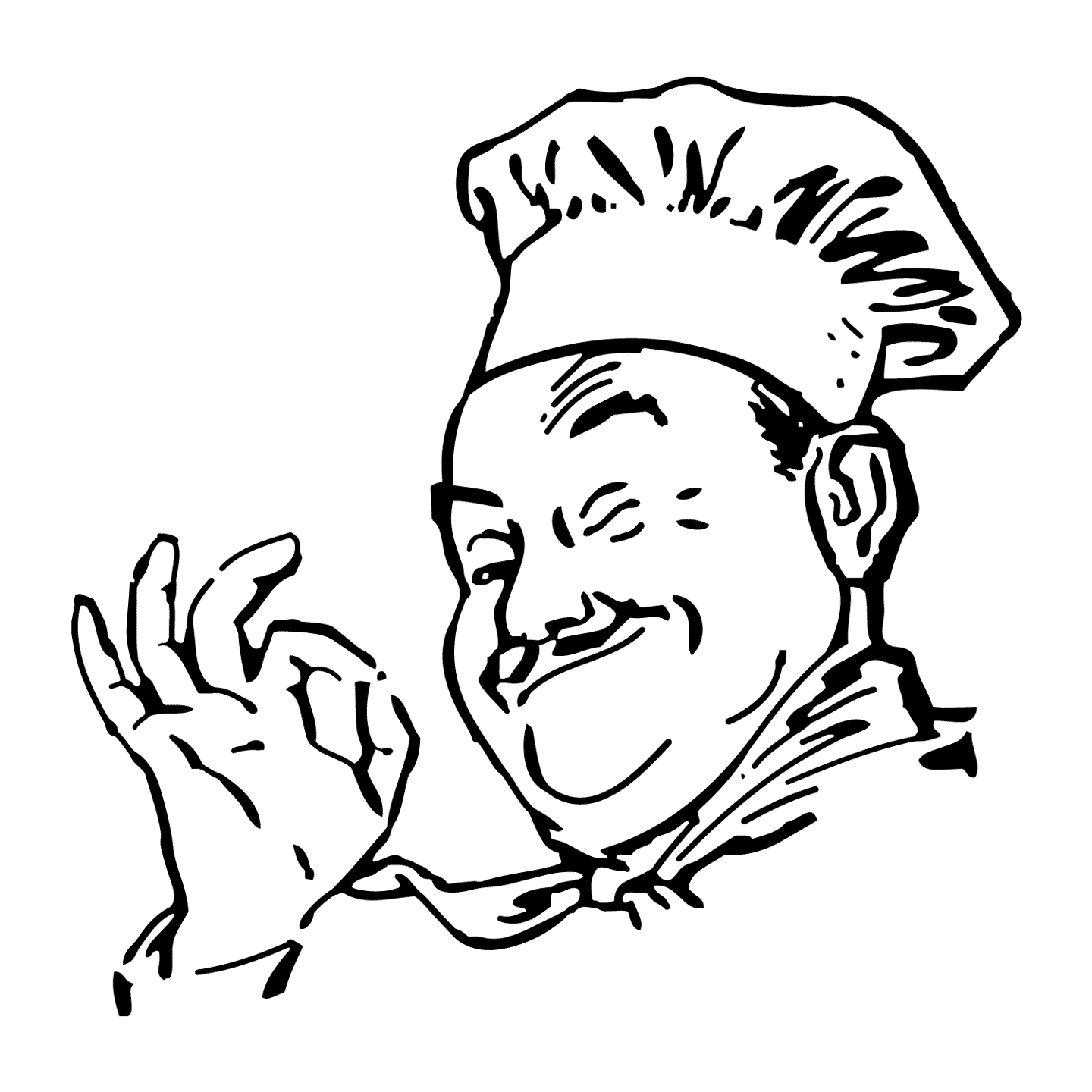 Chef with OK sign