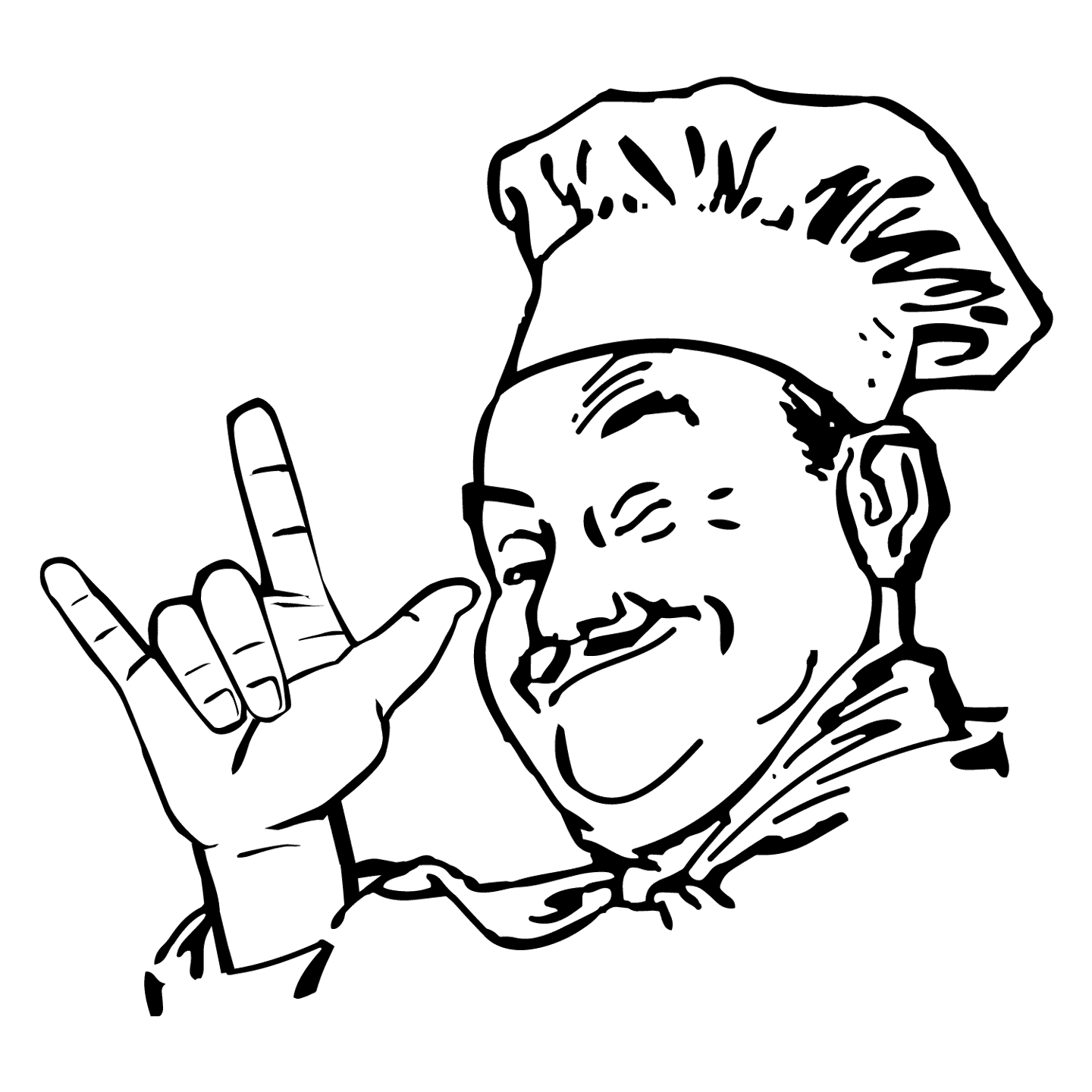 Chef with love sign