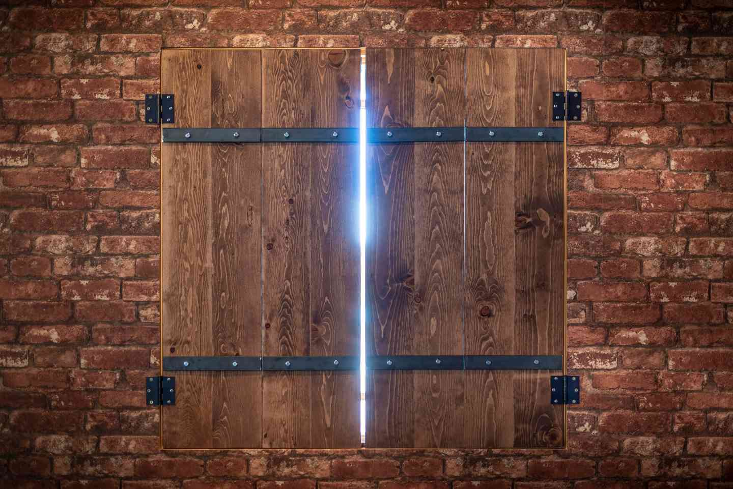 Door with a sliver of light shining through