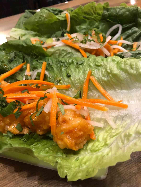 Bourbon Shrimp Lettuce Wraps