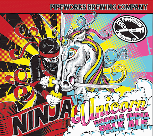 Pipeworks Ninja vs Unicorn