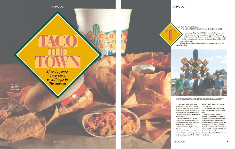 Taco the town (Tuscaloosa Magazine)