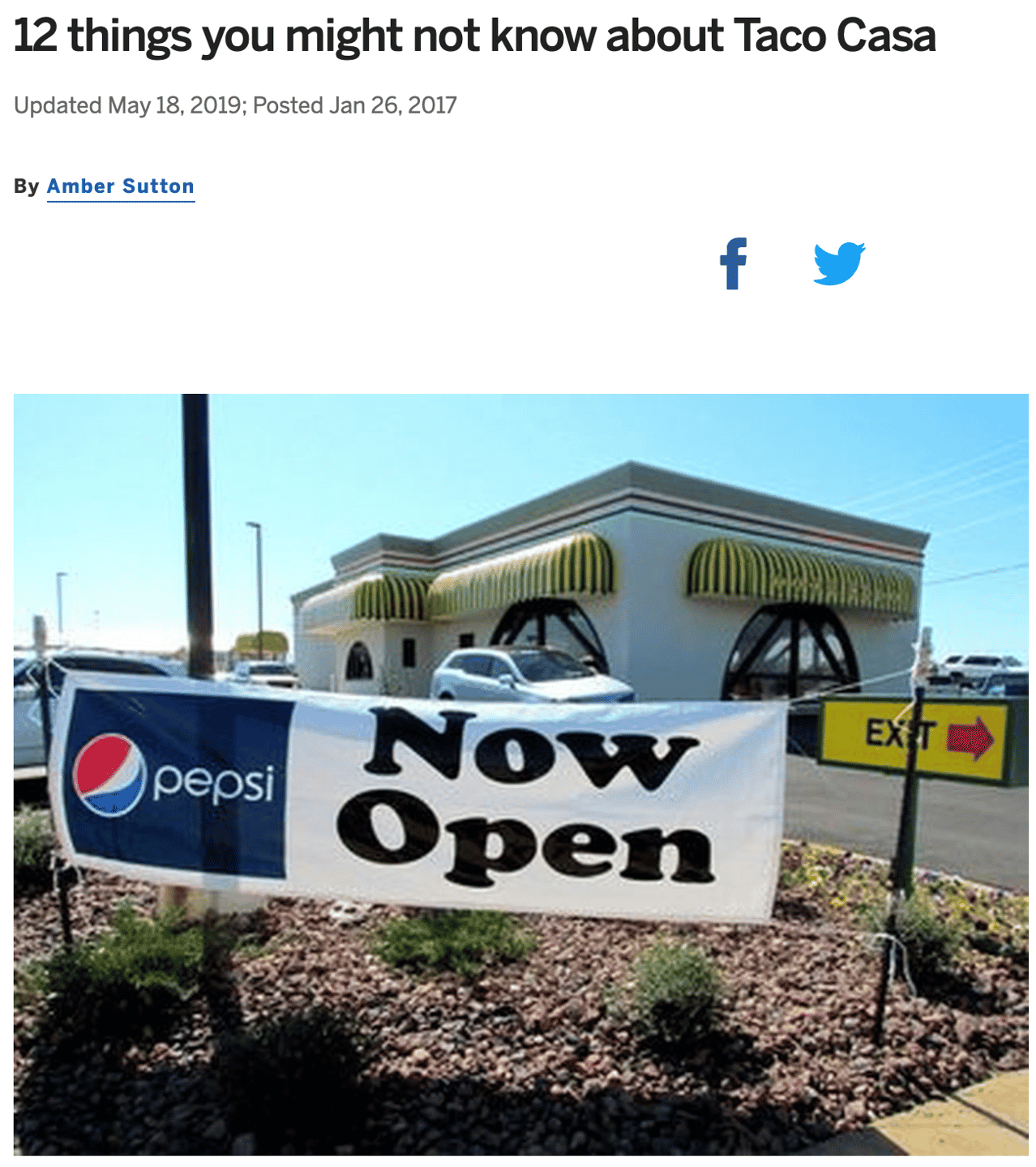 12 things you might not know about Taco Casa