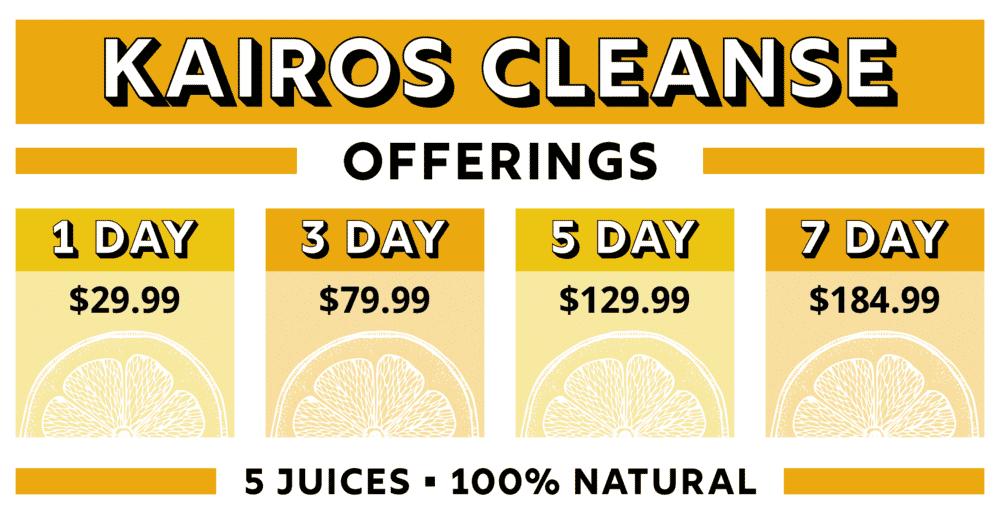 kairos cleanse options