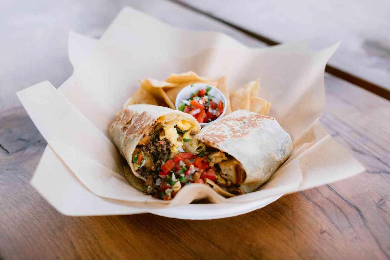 Tri-Tip Hash Burrito