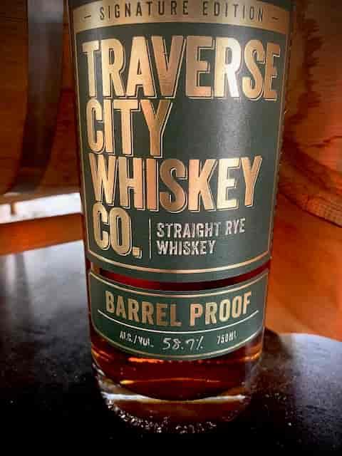 "Traverse City Whiskey Co. Straight Rye Whiskey ""Barrel Proof"""