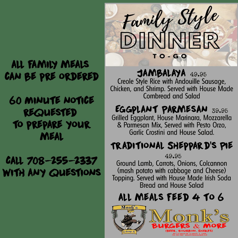 Family Meals - January 2, 2021