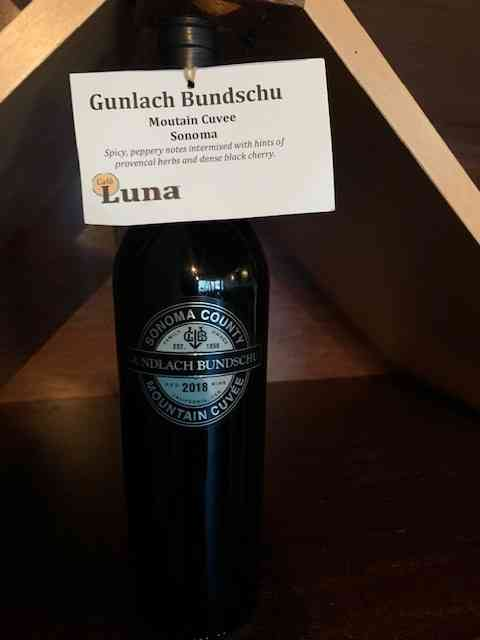 Gundlach Bundschu Mountain Cuvee, Red Blend
