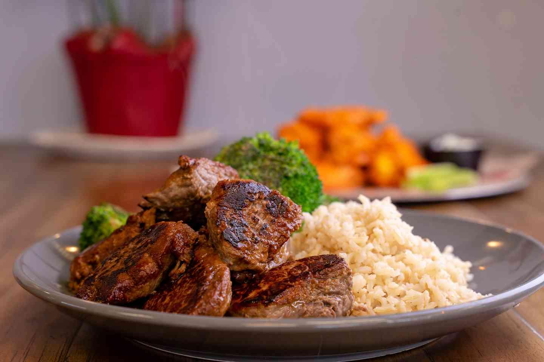 steak tip dinner