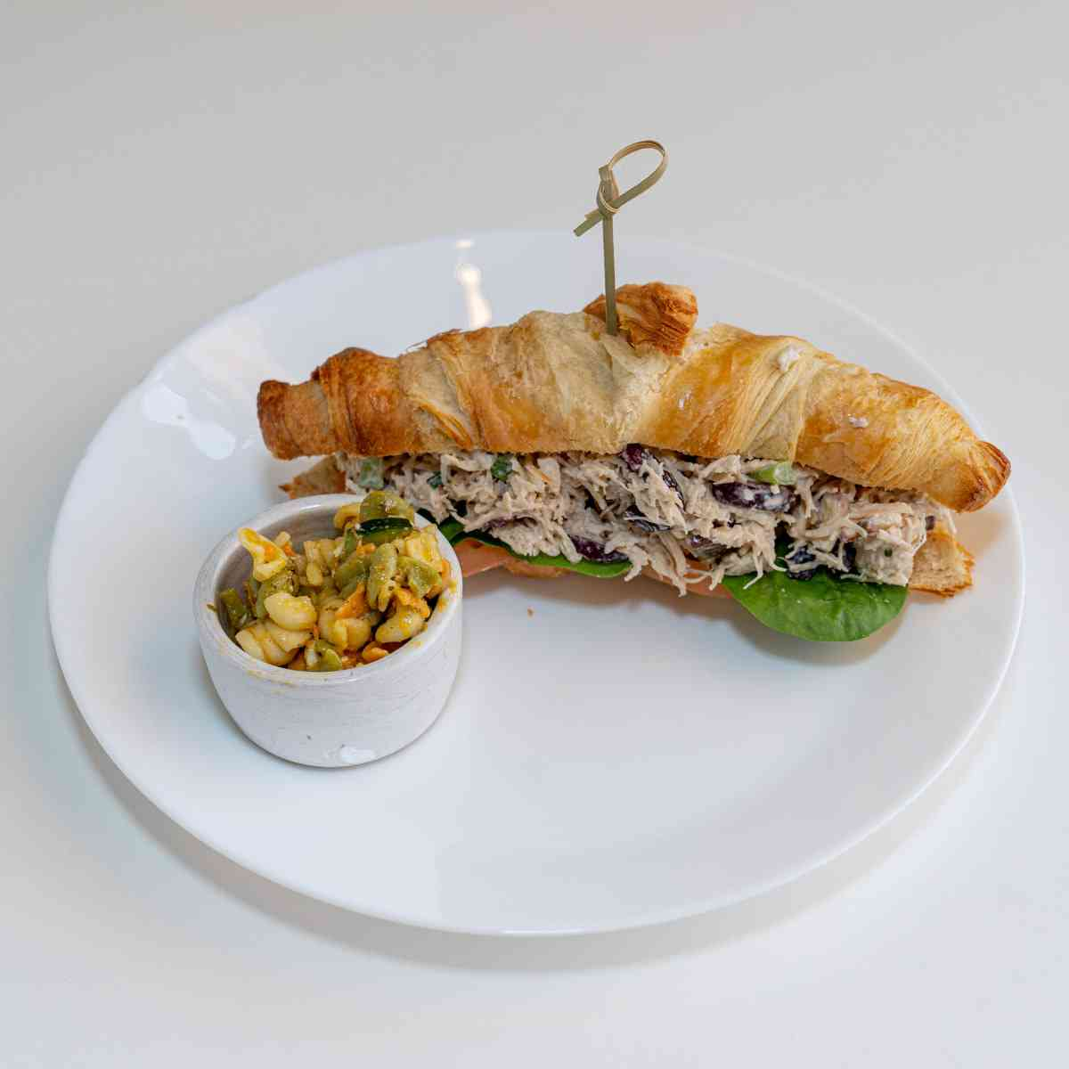 Stuffed Chicken Salad in a Butter Croissant