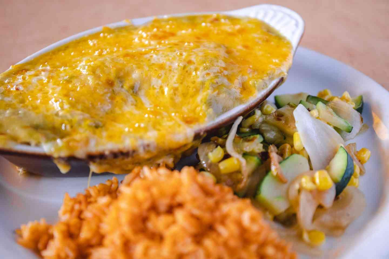 #1 Mama's Green Chile Enchilada Casserole