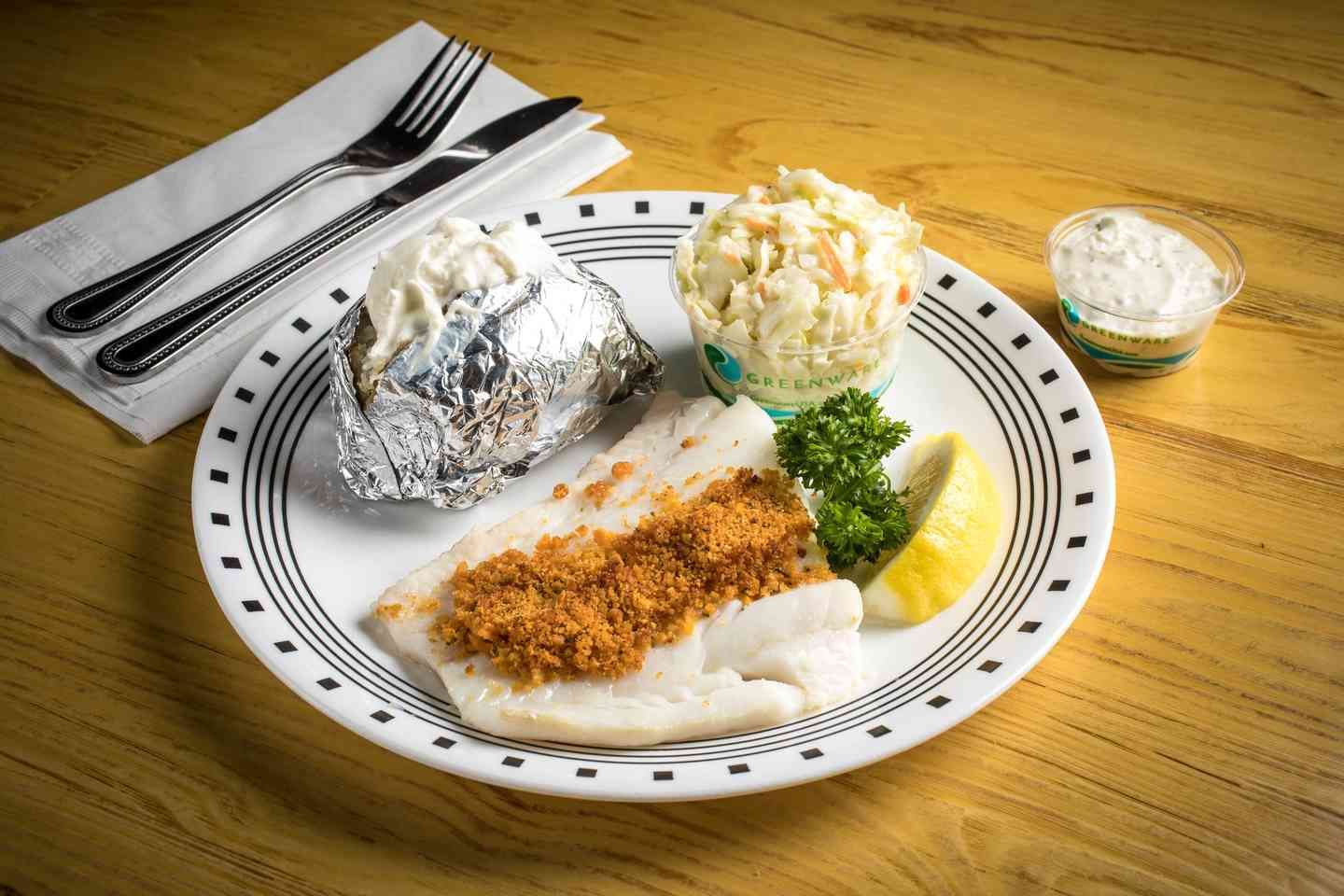 Fried or Baked Haddock Platter